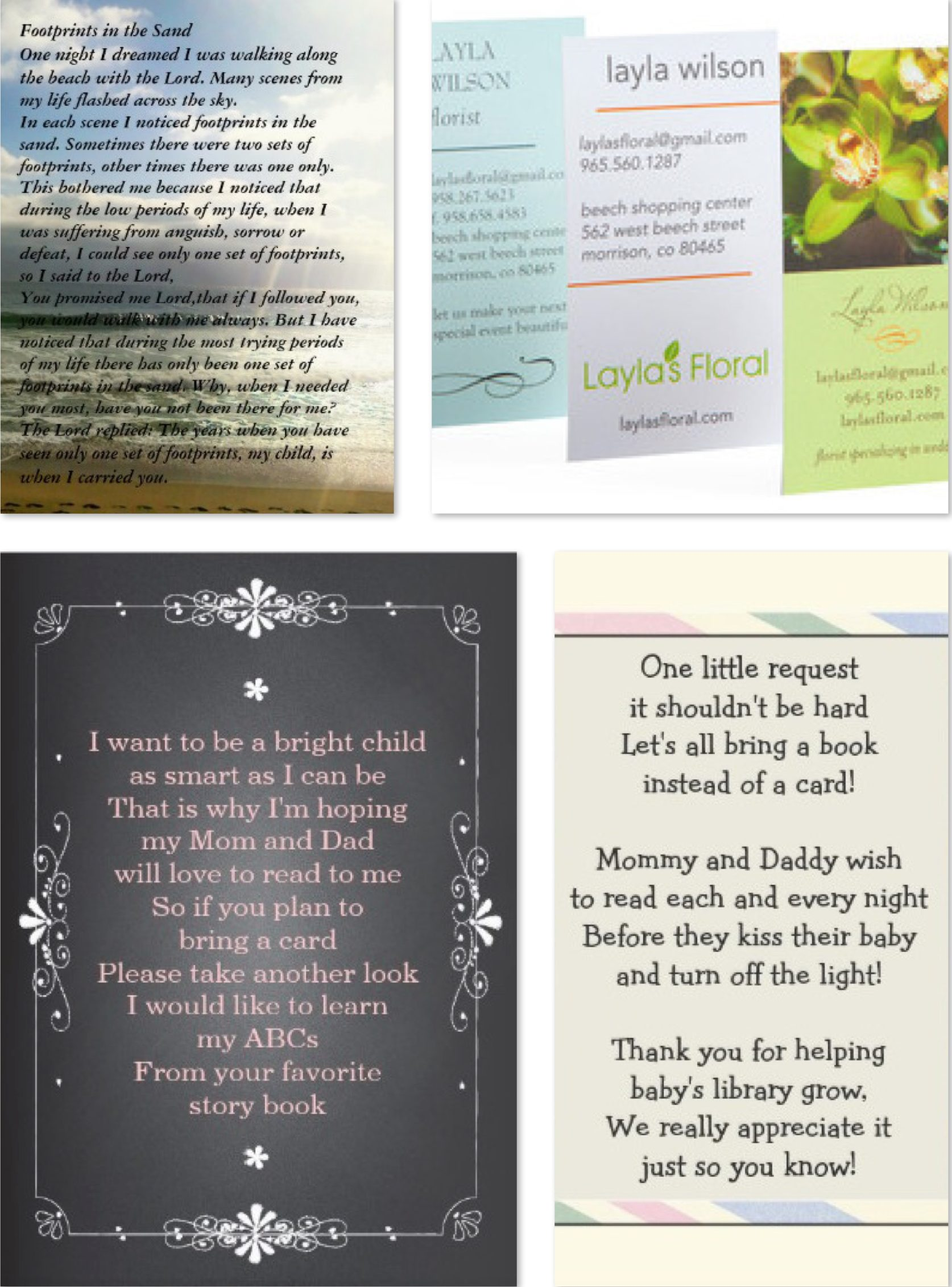 Business Cards as Invitations