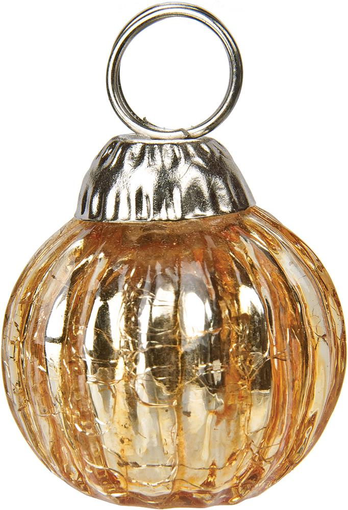 Gold Place Card Holders miniature Glass Bauble