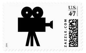 Movie Film Cine Camera Hollywood Postage