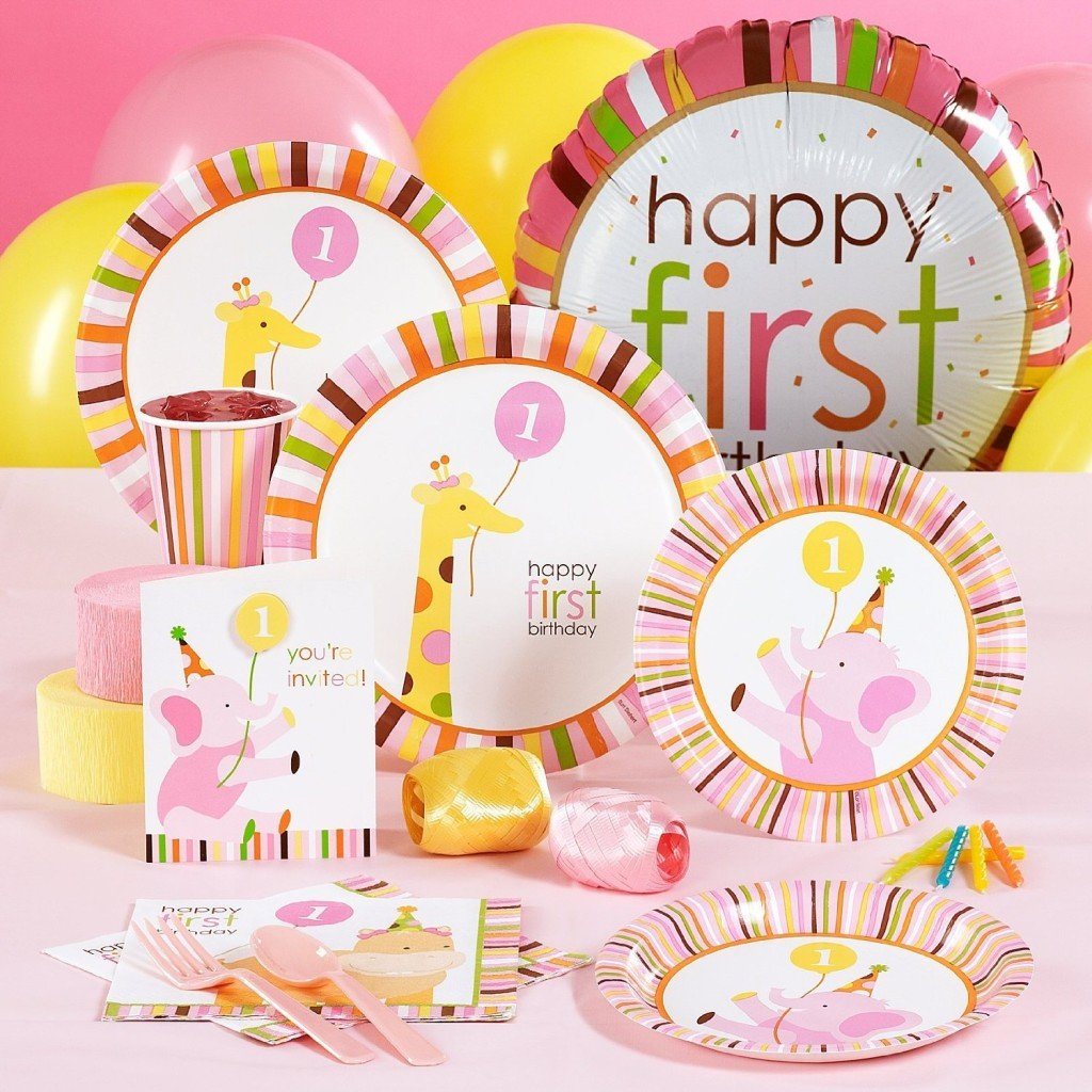 1st bday pink safari kit