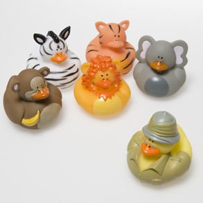 Animal Rubber Duckies