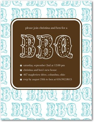Basic BBQ - Party Invitations in Paradise