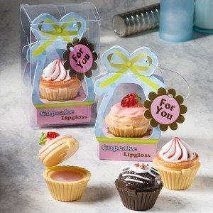 Cupcake Design Lip Gloss Favors