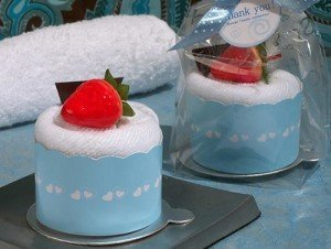 Cupcake Towel Favor