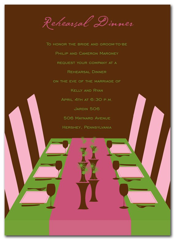 DAPPER DINING Dinner party invitation