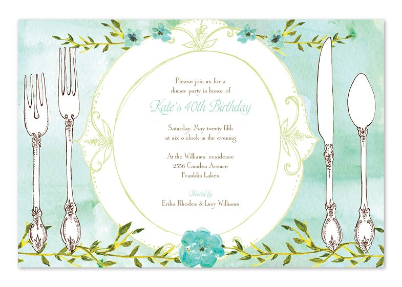 Rehearsal dinner dinner party invitations partyideapros delightful dinner plate dinner party invitation stopboris Image collections
