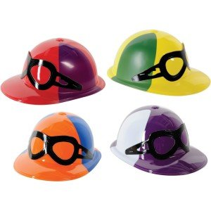 Derby Day Plastic Jockey Helmets Party Accessory