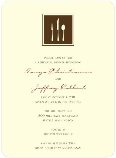 Fine Dining Dinner Party Invitation