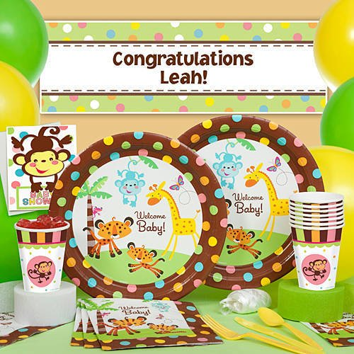 Jungle safari kids party baby shower planning ideas for Welcome home decorations for baby