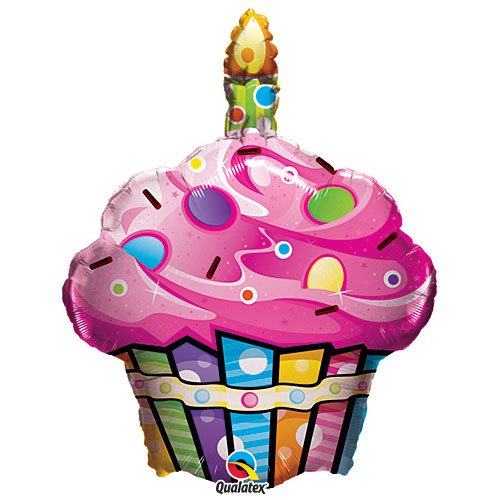 Fun and Funky Cupcake Mylar Balloon