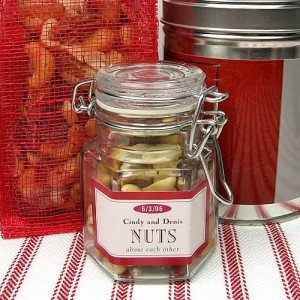 Glass spice jar party favors