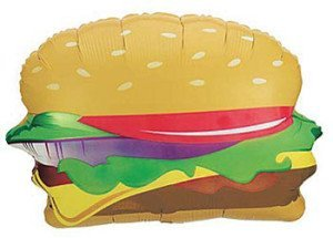 Hamburger Mylar Balloon