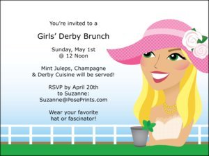 Kentucky Derby Personalized Invitations