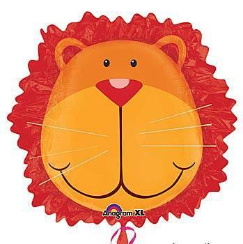 Lion Head Mylar Balloon
