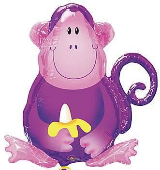 Monkey Mylar Balloon2