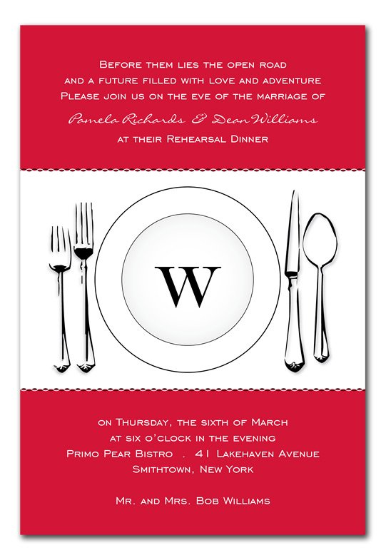 Red Table Scape Dinner Party Invitation
