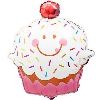 Sprinkled Cupcake Foil Balloon