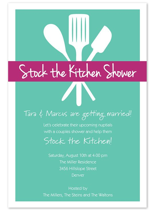 Stock the Kitchen Shower Cooking Party Invitation