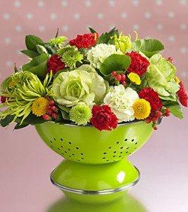 Flowers in Colander