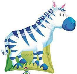 Zebra Mylar Balloon