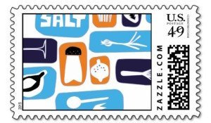 cooking postage stamps