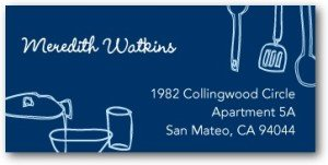 Kitchen Charm - Return Address Labels Midnight Blue