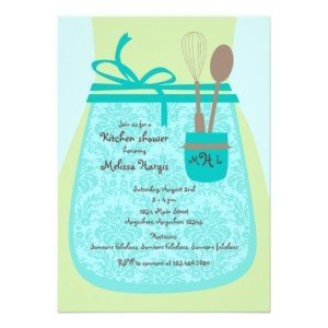 recipe kitchen bridal shower invitation