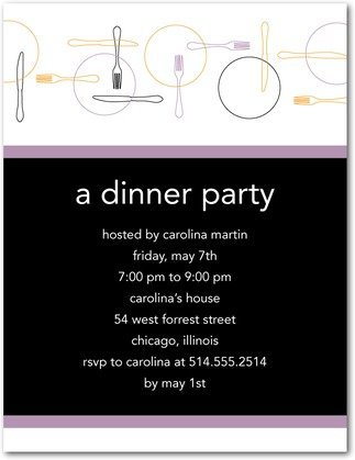 spinning plate dinner party invitations