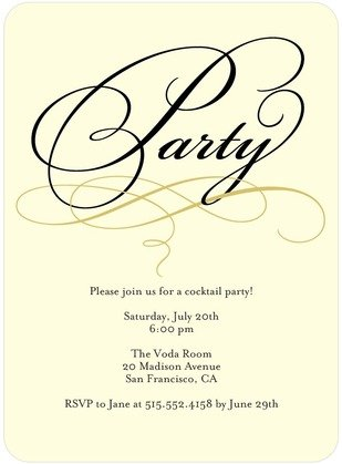 Dashing Script invitations