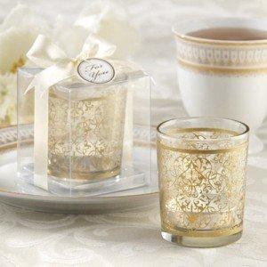 Golden Renaissance Glass Tea Light Holder