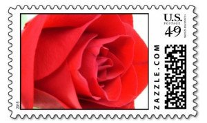 Red Rose Stamp