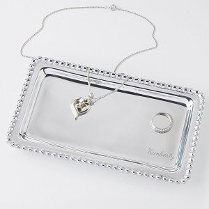 String of Pearls Personalized Jewelry Tray