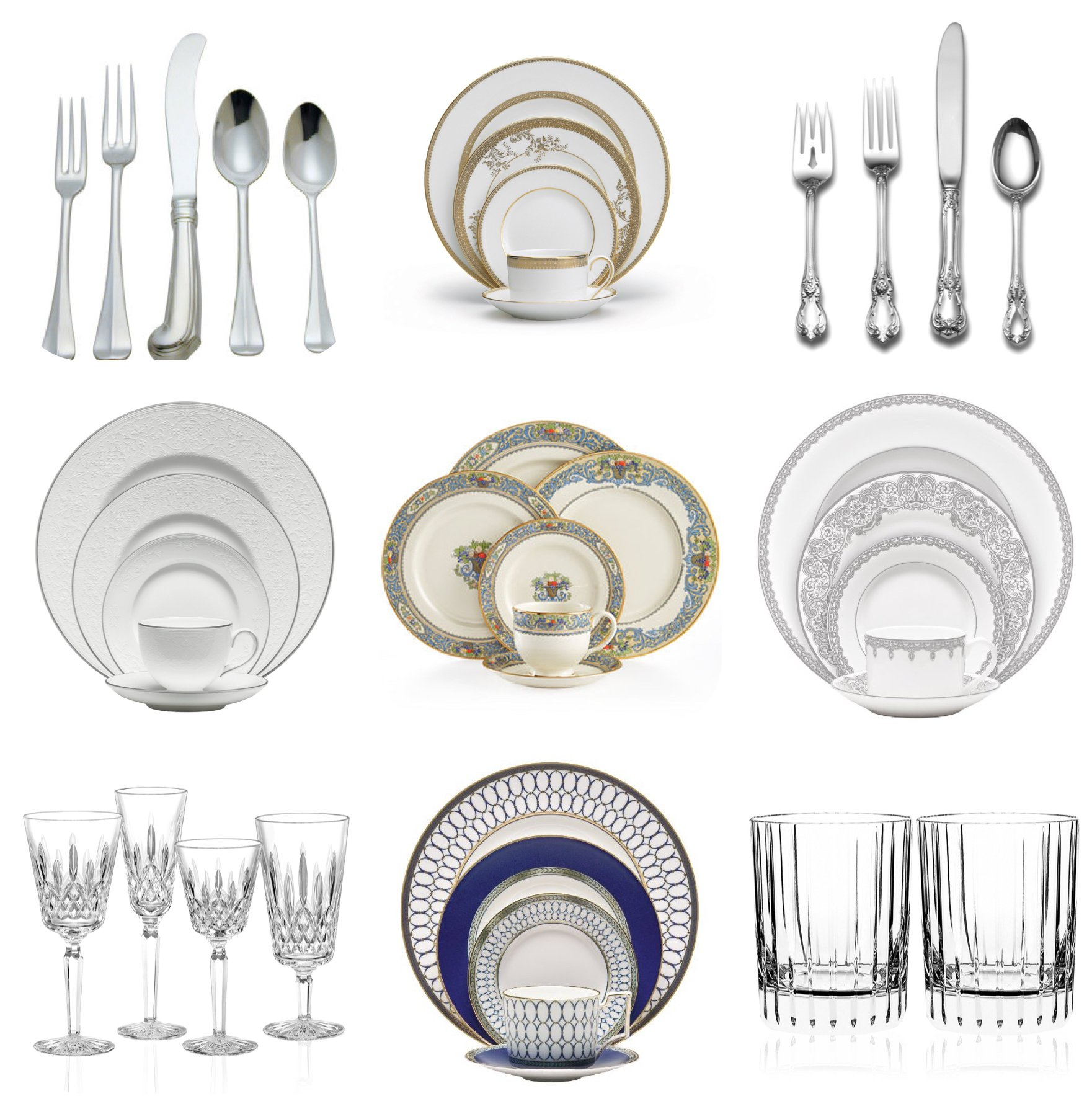 classic elegant tableware