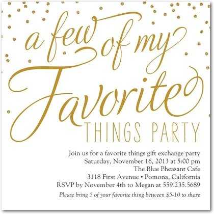 festive favorites party invitations