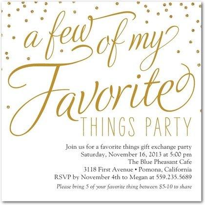 festive favorites party invitations