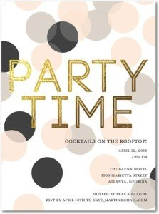 lavish time party invitations