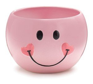 Pink Smiley Face Planter