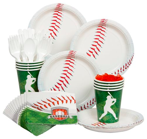 Baseball Party Kit  sc 1 st  Party Idea Pros : baseball paper plates - pezcame.com