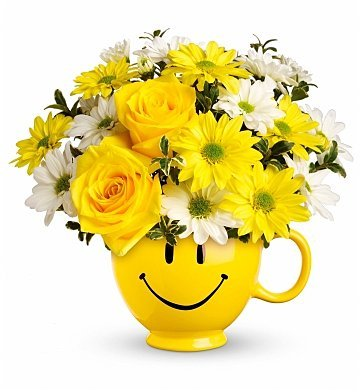 Be Happy Bouquet, Smiley Face. Happy Face Party