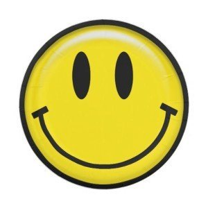 Classic Yellow Smiley Face Paper Plates