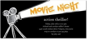 FILM SCREENING BLACK PARTY INVITATIONS