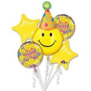 Happy Face Balloon Bouquet, Smiley Face. Happy Face Party Balloons