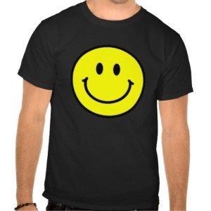 Happy Face Basic Dark T-Shirt