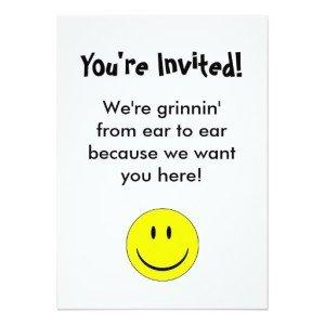 Happy Face Invitation