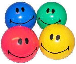 Inflatable Smiley Face Beach Balls