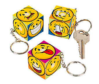 Mini Fun Magic Cube Puzzle Key Chains