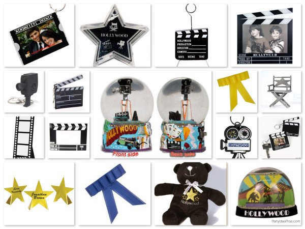 Movie Theme Party Supplies, Favors, Place cards, & Napkin Rings