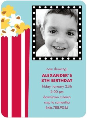 POPCORN TREAT BIRTHDAY PARTY INVITATIONS