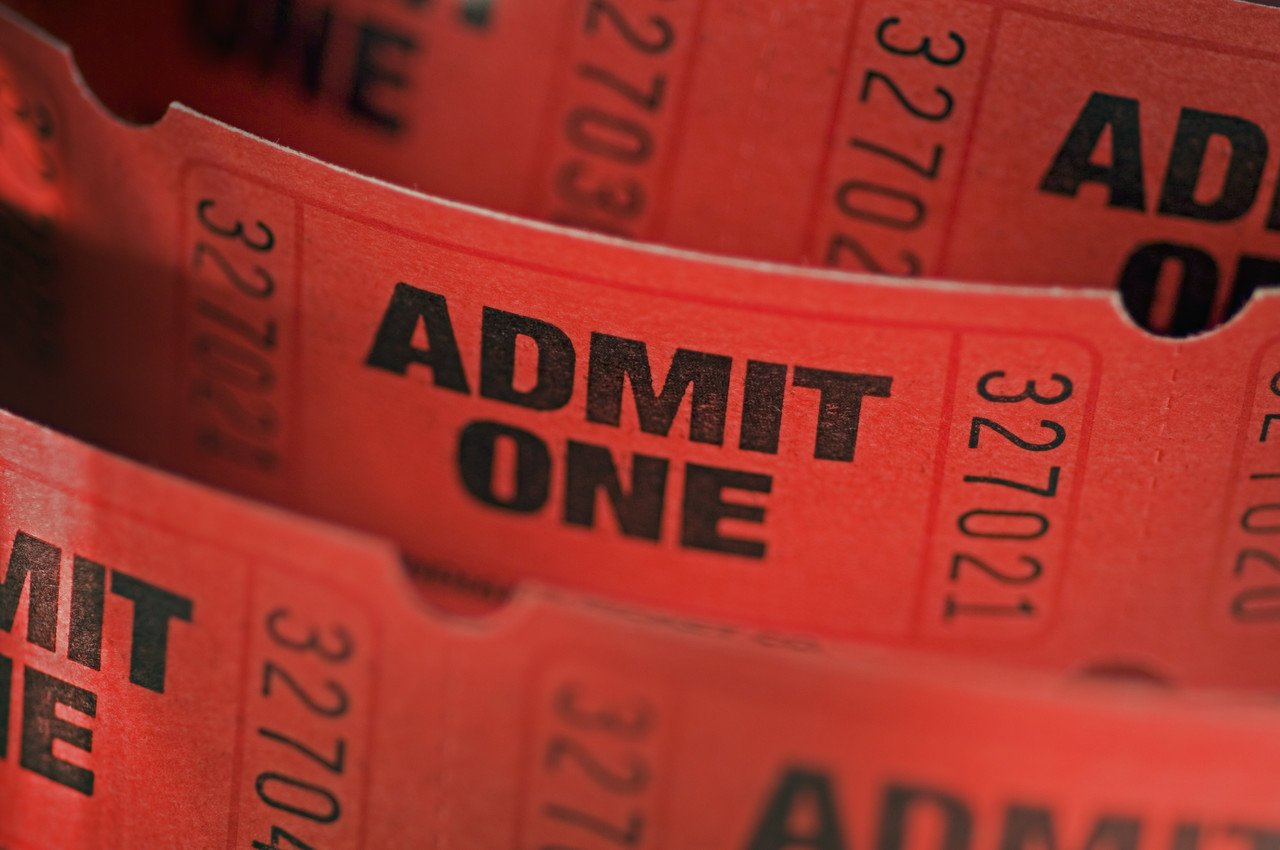"""Admit One"" Movie Tickets"