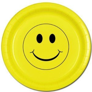SMILEY FACE DINNER PLATE